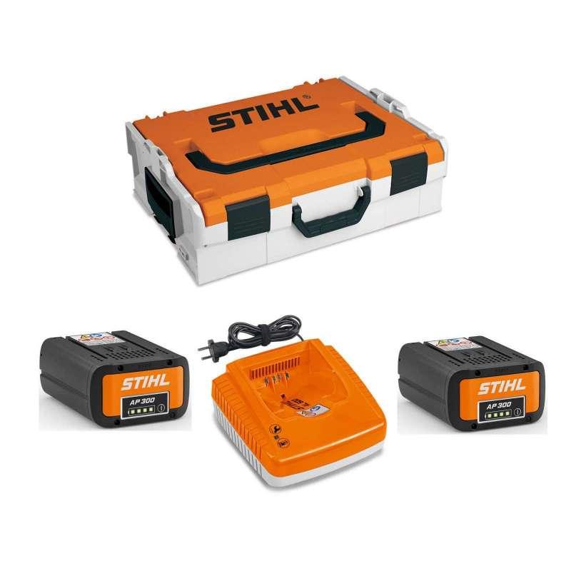 STIHL Akku Power Box mit Akku-Box, 2x Akku AP 300 und 1x Ladegerät AL 500