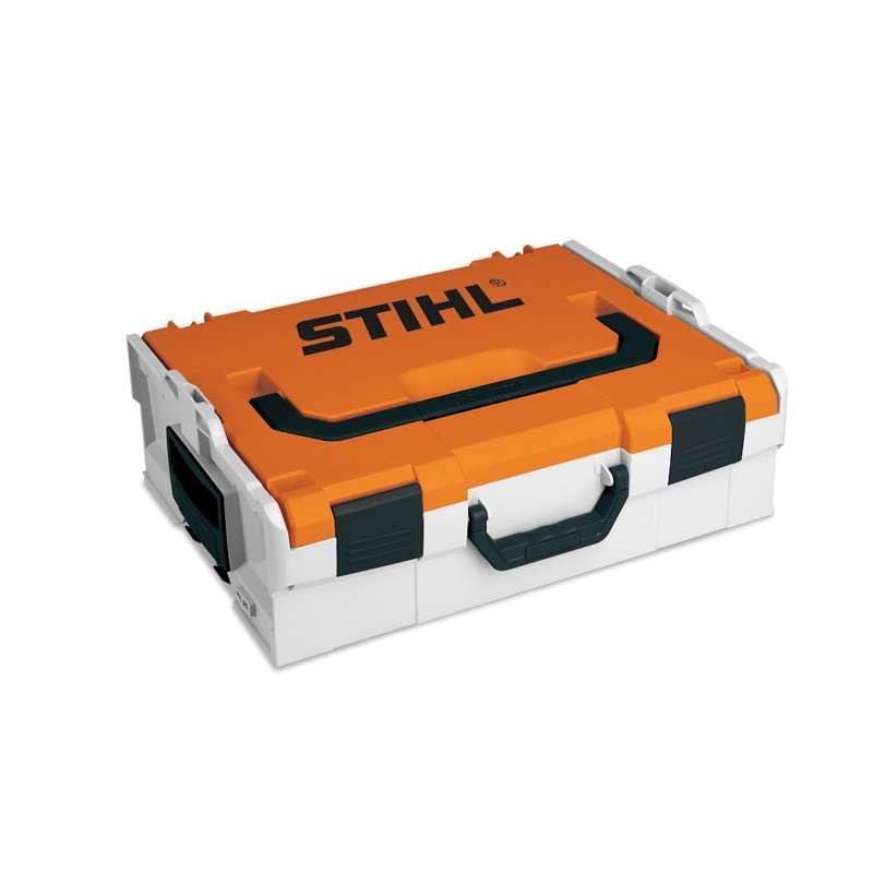 STIHL Akku-Box Aufbewahrungsbox 44 x 36 cm Aufbewahrungskoffer orange schwarz