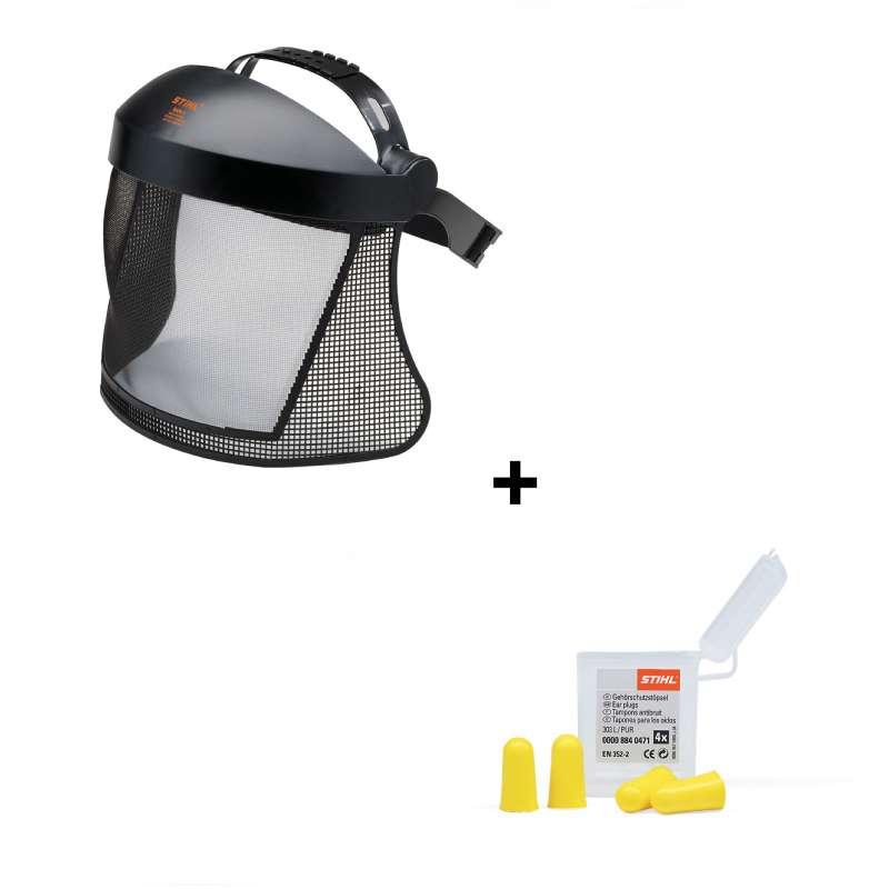 STIHL Gesichts- / Gehörschutz Kombination Gesichtsschutz Ohrstöpsel